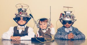 Workforce-Solutions-Group-MindSonar-300x156 Three Boys Dressed as Nerds with Mind Reading Helmets